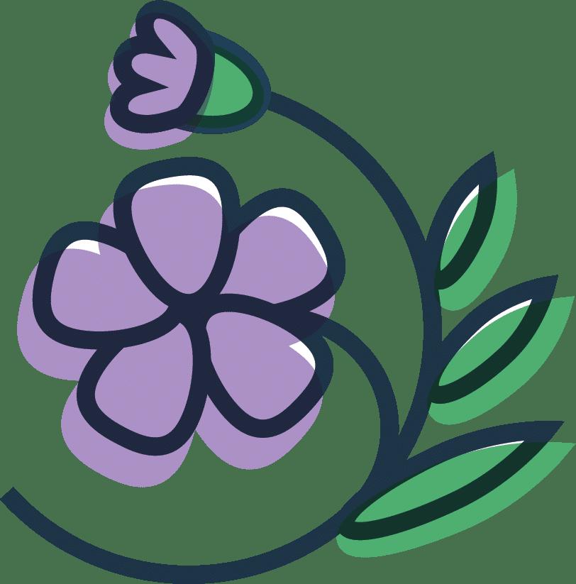 Dessin de fleur de lin